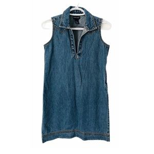 Vntg Ralph Lauren Denim Western Vibes Mini Dress S